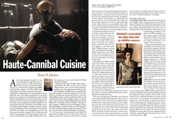 Article Preview: Haute-Cannibal Cuisine, February 2001 | Maclean's
