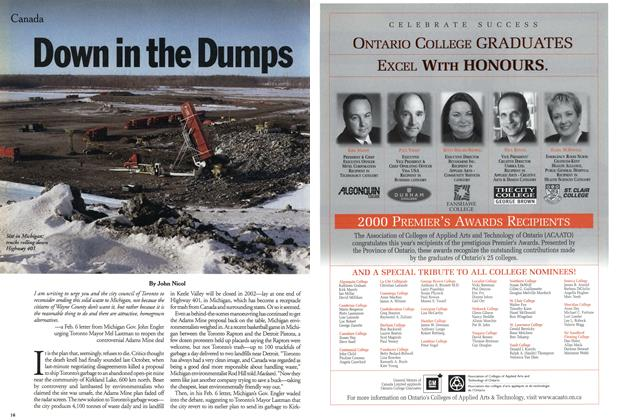 Article Preview: Down in the Dumps, February 2001 | Maclean's