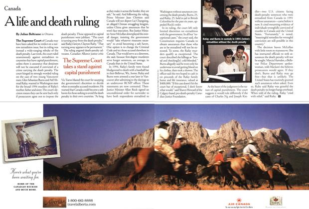 Article Preview: A life and death ruling, February 2001 | Maclean's