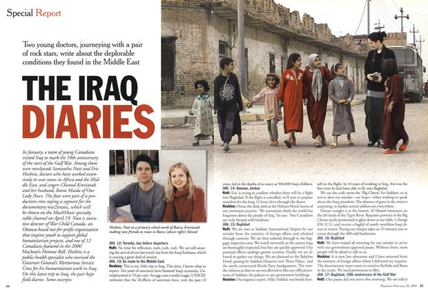 Article Preview: THE IRAQ DIARIES, February 2001 | Maclean's