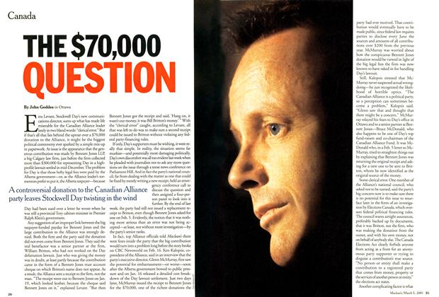 Article Preview: THE $70,000 QUESTION, March 2001 | Maclean's