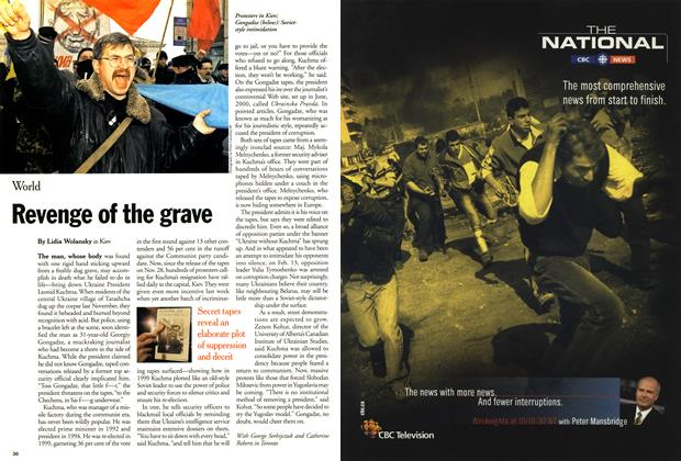 Article Preview: Revenge of the grave, March 2001 | Maclean's
