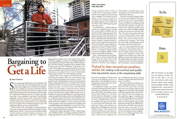 Article Preview: Bargaining to Get a Life, March 2001 | Maclean's