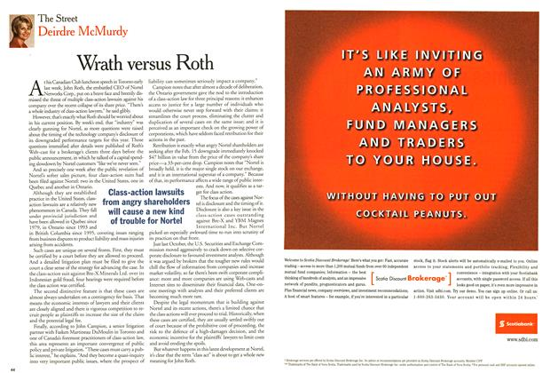 Article Preview: Wrath versus Roth, March 2001 | Maclean's
