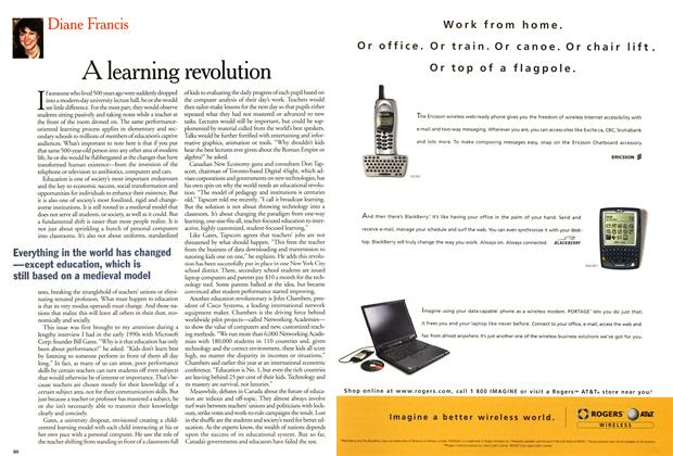 Article Preview: A learning revolution, March 2001 | Maclean's