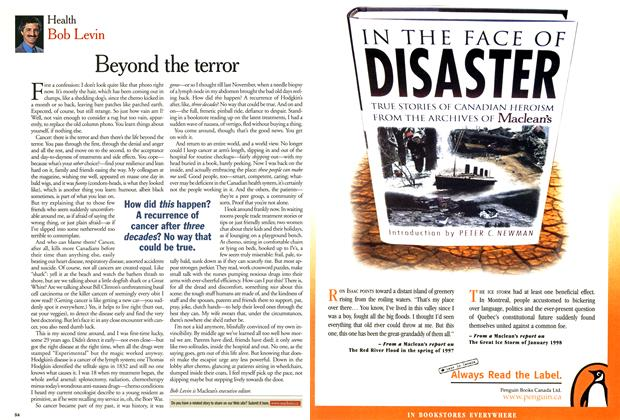Article Preview: Beyond the terror, March 2001 | Maclean's