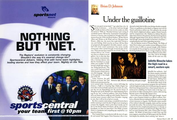 Article Preview: Under the guillotine, March 2001 | Maclean's