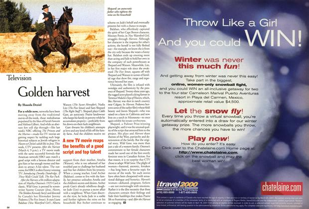 Article Preview: Golden harvest, March 2001 | Maclean's