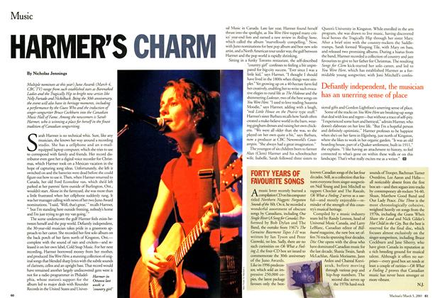 Article Preview: HARMER'S CHARM, March 2001 | Maclean's