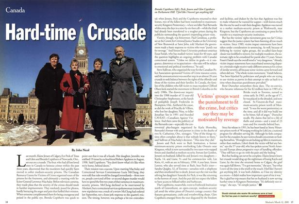 Article Preview: Hard-time Crusade, March 2001 | Maclean's