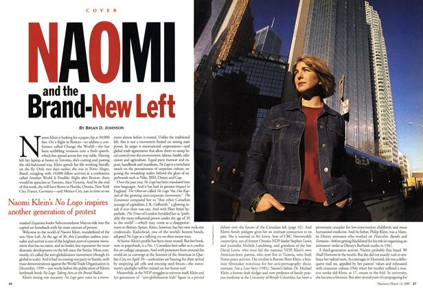 Article Preview: NAOMI and the Brand-New Left, March 2001 | Maclean's