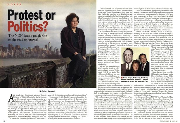 Article Preview: Protest or Politics?, March 2001 | Maclean's