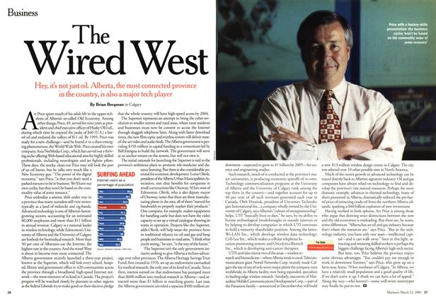 Article Preview: The Wired West, March 2001 | Maclean's