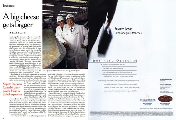 Article Preview: A big cheese gets bigger, March 2001 | Maclean's