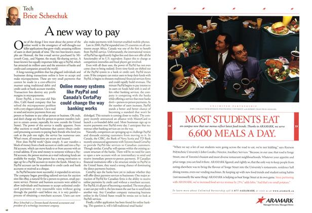 Article Preview: A new way to pay, March 2001 | Maclean's