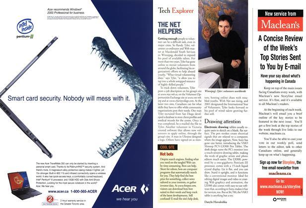 Article Preview: Tech Explorer, March 2001 | Maclean's