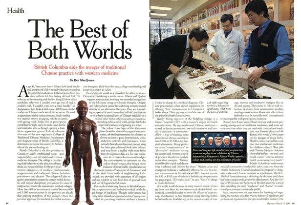 Article Preview: The Best of Both Worlds, March 2001 | Maclean's