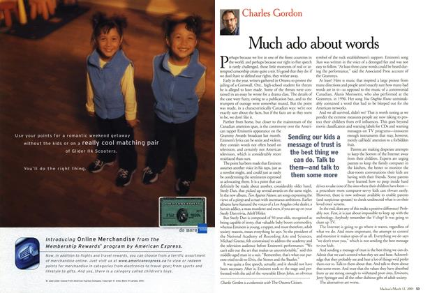 Article Preview: Much ado about words, March 2001 | Maclean's