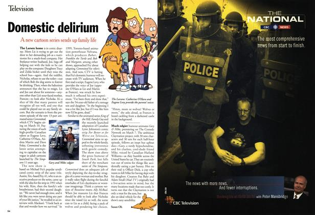 Article Preview: Domestic delirium, March 2001 | Maclean's