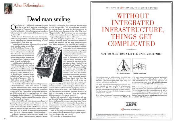 Article Preview: Dead man smiling, March 2001 | Maclean's