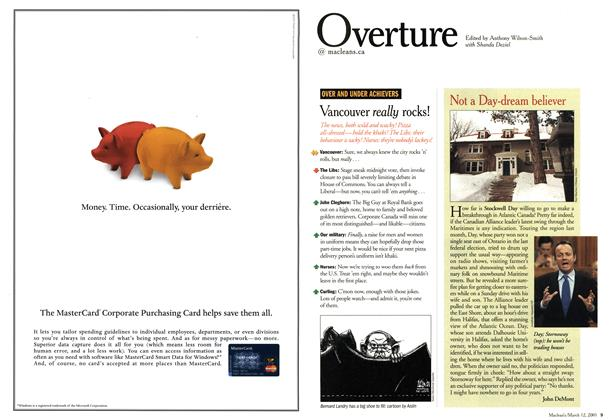Article Preview: Overture, March 2001 | Maclean's