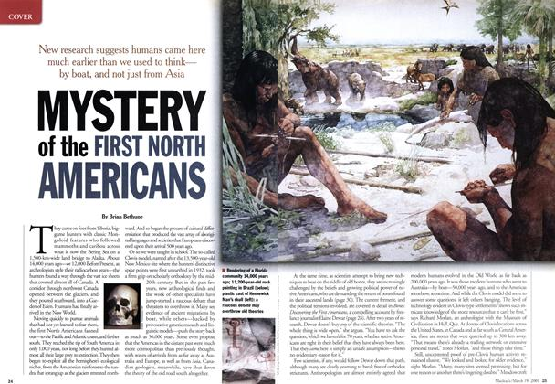 Article Preview: MYSTERY of FIRST NORTH AMERICANS, March 2001 | Maclean's