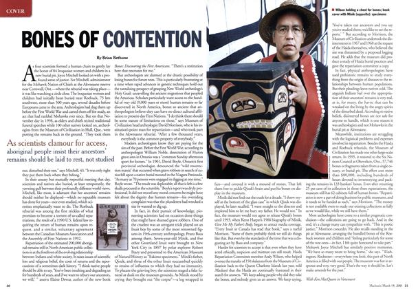 Article Preview: BONES OF CONTENTION I, March 2001 | Maclean's