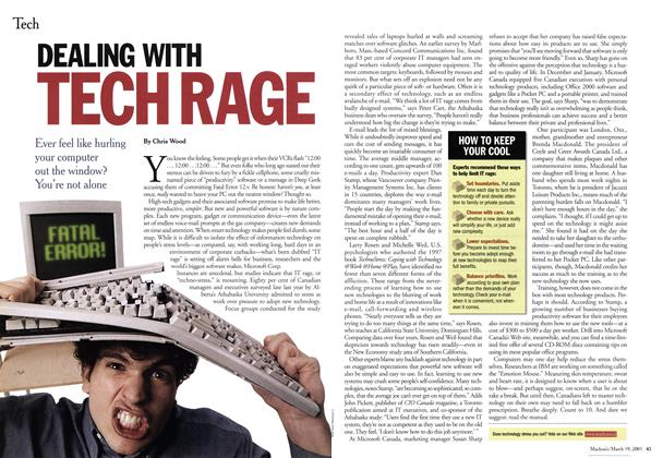 Article Preview: DEALING WITH TECH RAGE, March 2001 | Maclean's