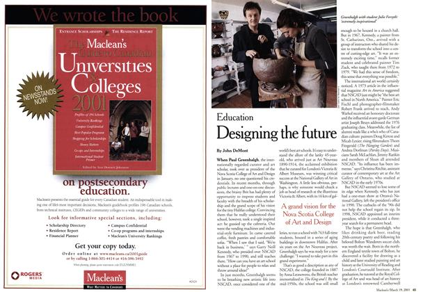 Article Preview: Designing the future, March 2001 | Maclean's