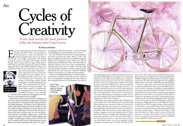 Article Preview: Cycles of Creativity, March 2001 | Maclean's