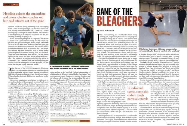 Article Preview: BANE OF THE BLEACHERS, March 2001 | Maclean's