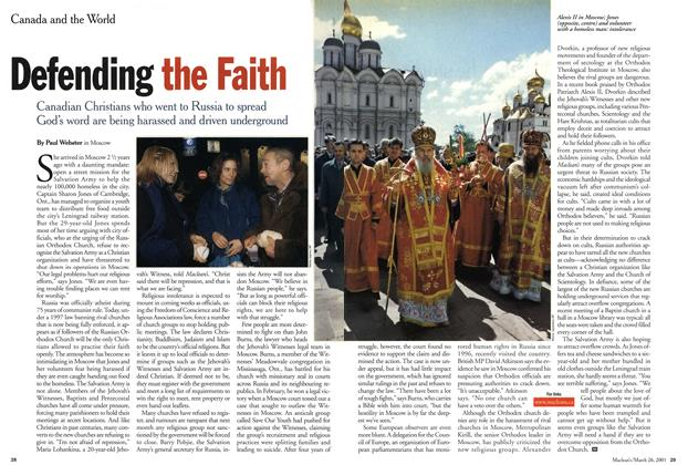 Article Preview: Defending the Faith, March 2001 | Maclean's