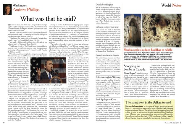 Article Preview: What was that he said?, March 2001 | Maclean's