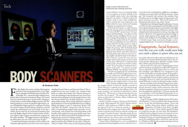 Article Preview: BODY SCANNERS, March 2001 | Maclean's