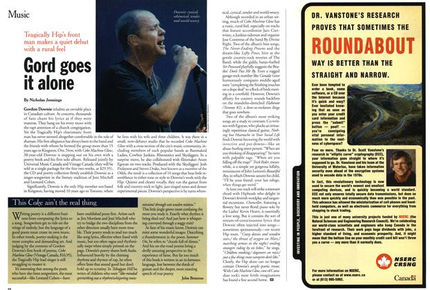 Article Preview: Gord goes it alone, March 2001 | Maclean's