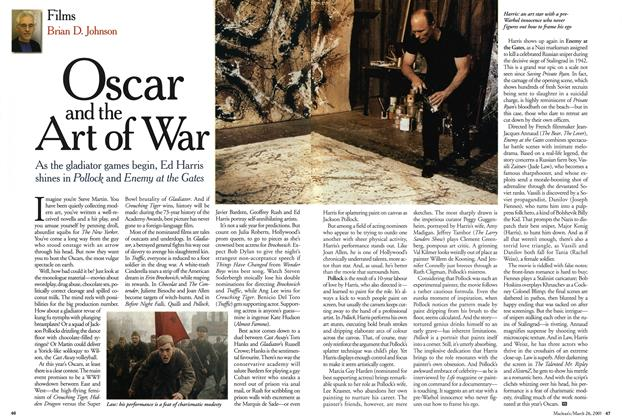 Article Preview: Oscar and the Art of War, March 2001 | Maclean's