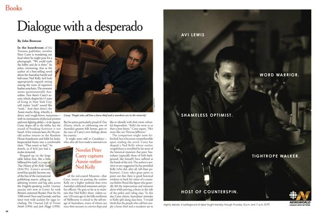 Article Preview: Dialogue with a desperado, March 2001 | Maclean's