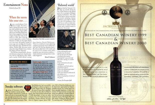 Article Preview: Entertainment Notes, March 2001 | Maclean's