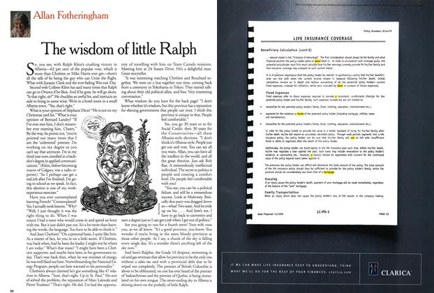 Article Preview: The wisdom of little Ralph, March 2001 | Maclean's