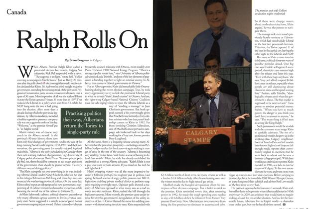 Article Preview: Ralph Rolls On, March 2001 | Maclean's
