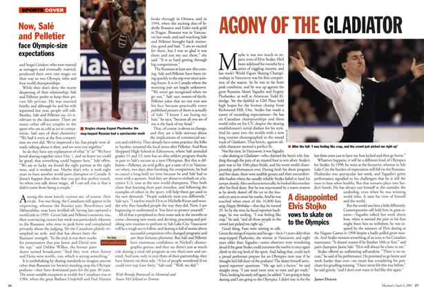 Article Preview: AGONY OF THE GLADIATOR, April 2001 | Maclean's