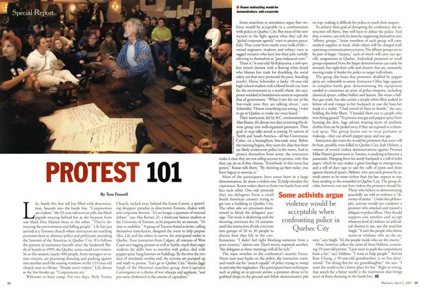 Article Preview: PROTEST 101, April 2001 | Maclean's