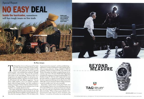 Article Preview: NO EASY DEAL, April 2001 | Maclean's