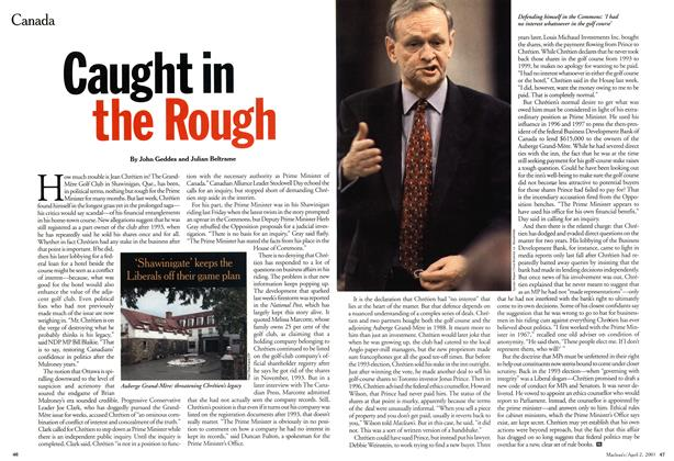 Article Preview: Caught in the Rough, April 2001 | Maclean's