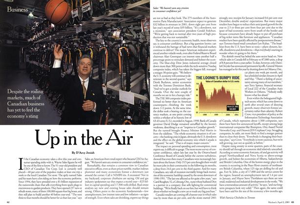 Article Preview: Up in the Air, April 2001 | Maclean's