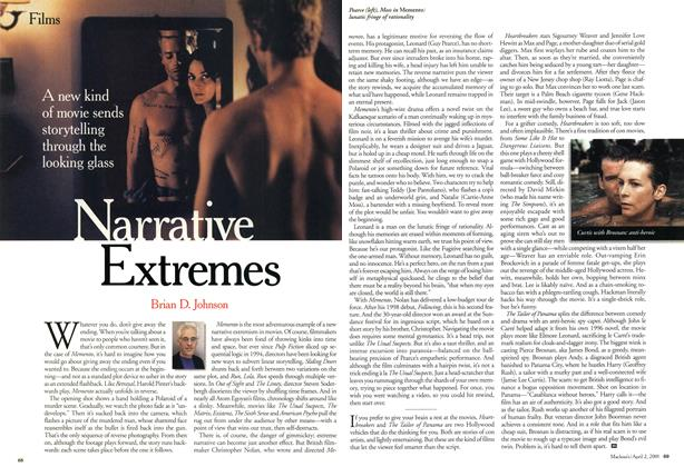 Article Preview: Narrative Extremes, April 2001 | Maclean's