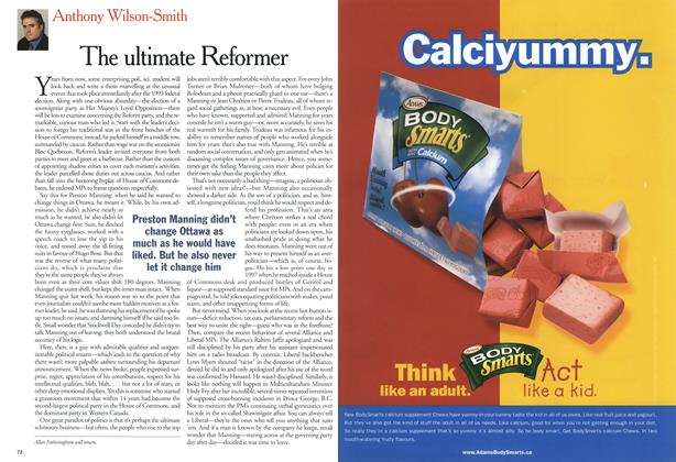Article Preview: The ultimate Reformer, April 2001   Maclean's