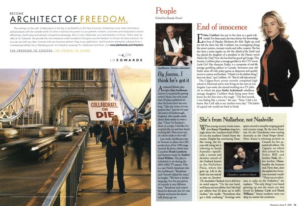 Article Preview: People, April 2001   Maclean's