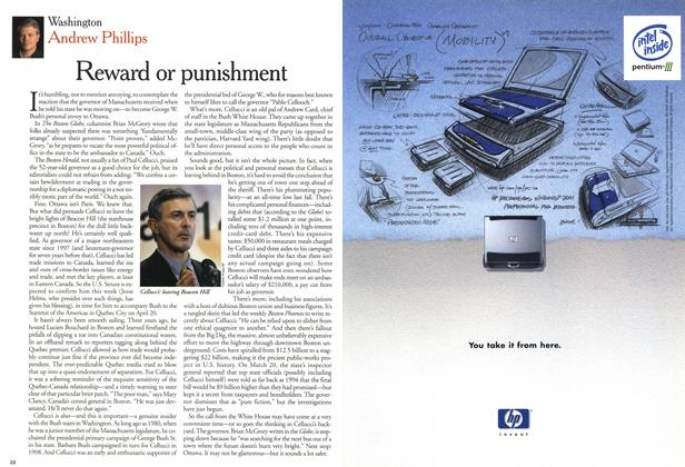 Article Preview: Reward or punishment, April 2001 | Maclean's