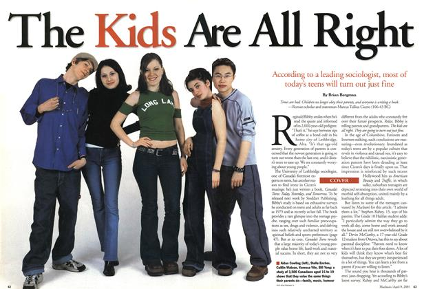 Article Preview: The Kids Are All Rights, April 2001 | Maclean's